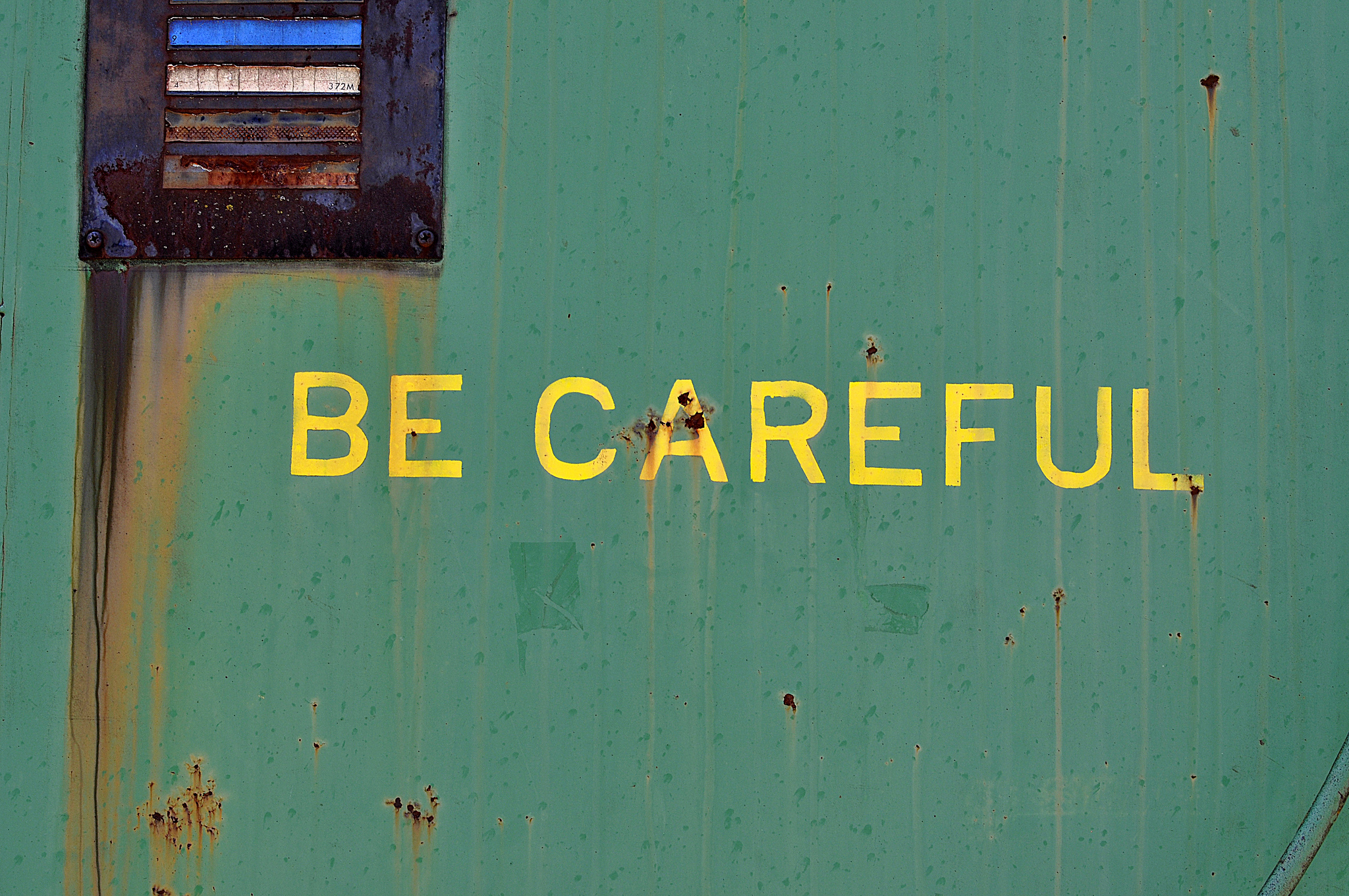 """be careful"" by amboo who? is licensed under CC BY 2.0 (Flickr)"