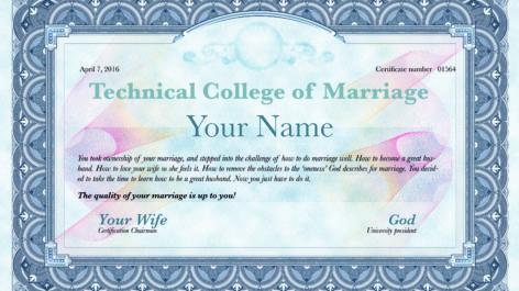Marriage: 'University' or 'Tech School'?